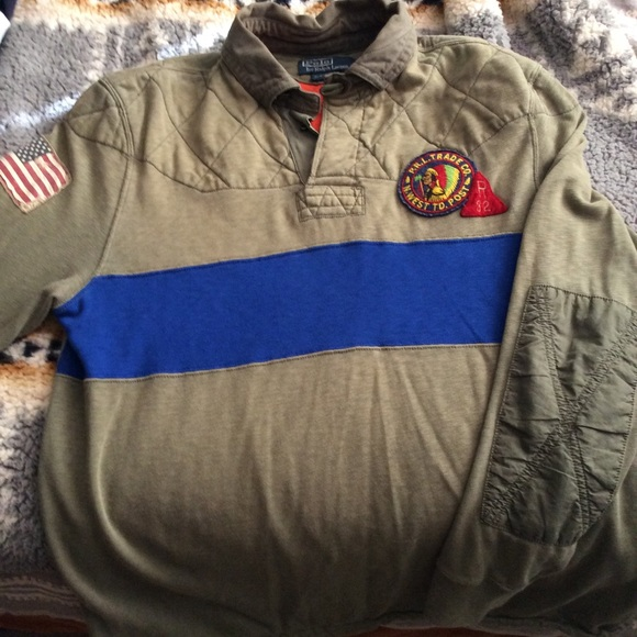 Vintage Lauren Rugby Indian Head L Polo Ralph Size uPkXZi